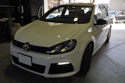 VW GOLFR デイライトコーディング マフラーアースFA