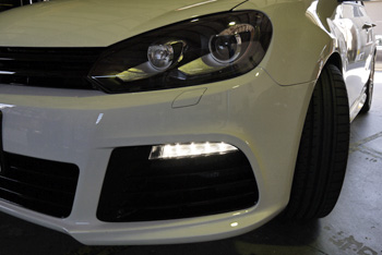 VW GOLFR デイライトコーディング マフラーアースFA 岡山 広島
