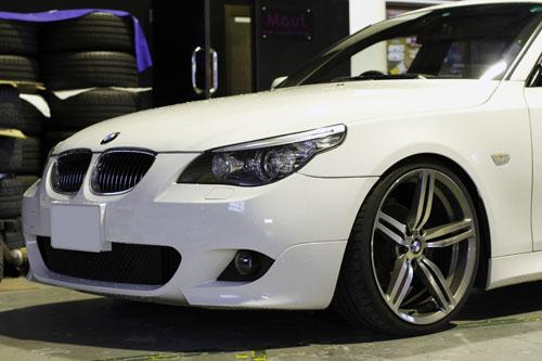 kw車高調取付 BMW E61 525i ローダウン 岡山 鳥取