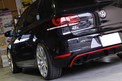 VW GOLF6 absolute TSK MONO ワンピースホイール STOPTECH 328×28 4POT BBK取付 岡山
