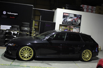 AUDI A4B8 absolute TWM mono ゴールドアナダイズ Michelin Pilot Super Sport モノブロック ホイール 岡山