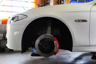 BMW 535 F10 STOPTECH BBK 380×32 6POT取付 香川 岡山