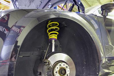 AUDI TT KW車高調 ver2 ローダウン 岡山 ブレーキパッド