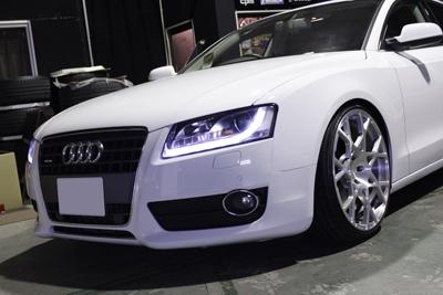 AUDI A5 KW V3車高調 ブレーキパット取付 AUDI A1 KW V2車高調 VW GOLF5 モジュール