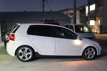 VW GOLF7デイライトコーディング,VW PASSAT KW V2車高調,レクサスLS ブレーキパット交換