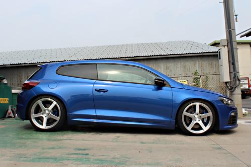 VW SCIROCCO R KW V3車高調 ローダウン
