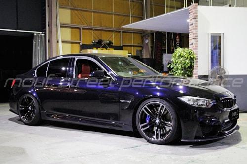 BMW F80 M3 KW V3車高調 AKRAPOVIC EV フロントリップ、リアディフューザー