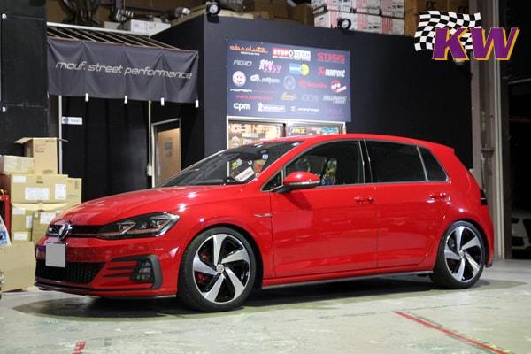 VW GOLF7.5gti KW V3車高調 AUDI S3 レムスマフラー AUDI RS5 ヘッドライトバルブ交換