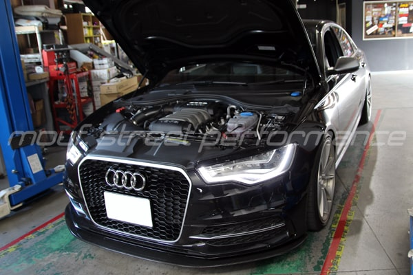 AUDI A6sedan マフラー交換etc VW GOLF7gti cs SLIPLO施工