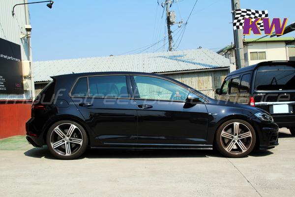 VW GOLF 7.5R KW V3車高調 フロント、リアマウントインサート、オイル交換