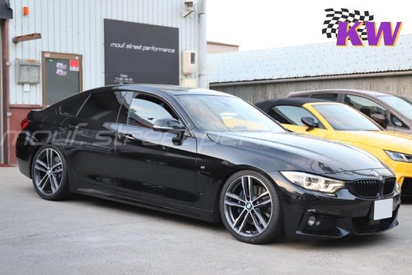 AUDI TTRS 8s APRソフトインストール BMW 435グランクーペ KW V3車高調