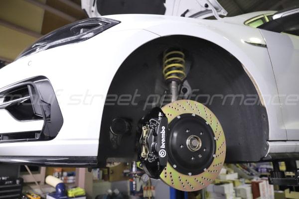 VW GOLF7.5R ブレンボブレーキKIT  VW PASSAT 修理 AUDI A3ブレーキパット交換