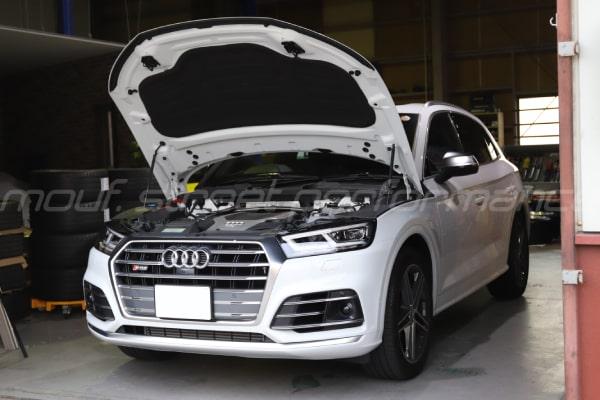 AUDI SQ5 APRステージ1インストール AUDI、VW 油脂交換 BMW X3コーディング