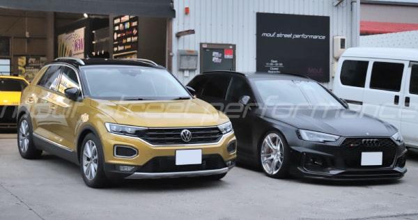 VW T-ROC KW V1車高調 ドライブレコーダー他 AUDI RS4avant オイル交換、APRアップデート